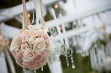 Floral and Chandeliers with Perry House Arbor