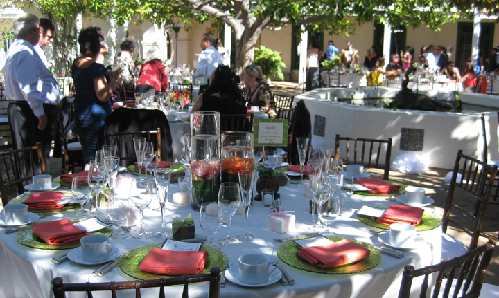 Memory Gardens formal dinner with Classic Catering