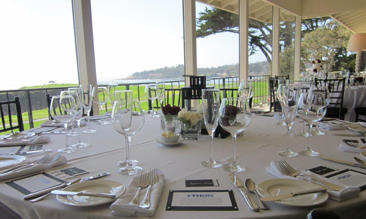 Formal Dining set up at Woods Hole - Classic Catering