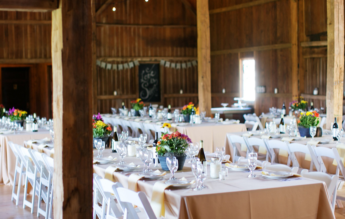 Downtown Monterey Barns - an idea of what your event could look like